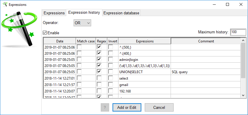 XL-Parser - Functions Extraction Expression Window
